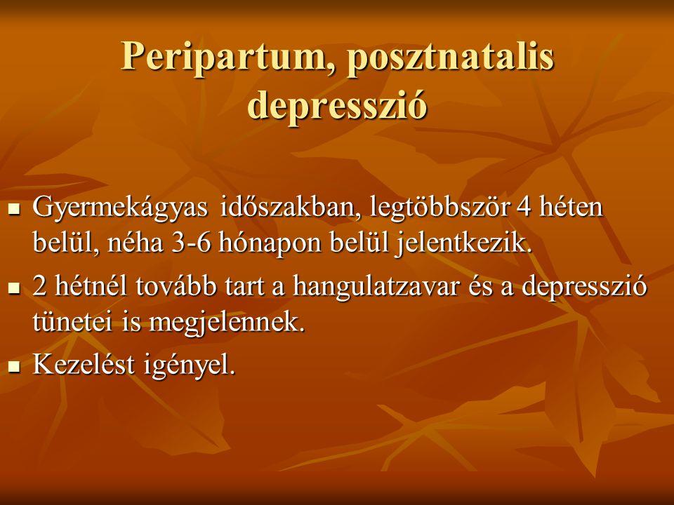 Peripartum, posztnatalis depresszió