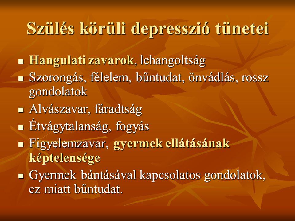 Szülés körüli depresszió tünetei