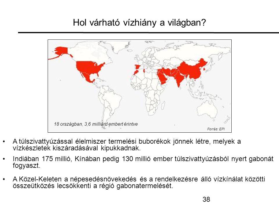 Hol várható vízhiány a világban