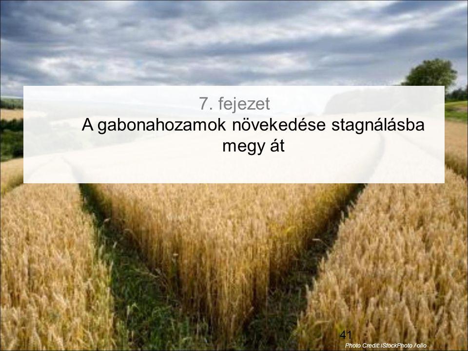 7. fejezet A gabonahozamok növekedése stagnálásba megy át