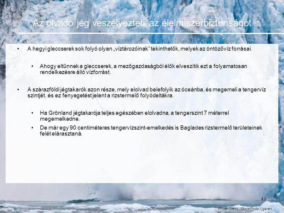 Az olvadó jég veszélyezteti az élelmiszerbiztonságot