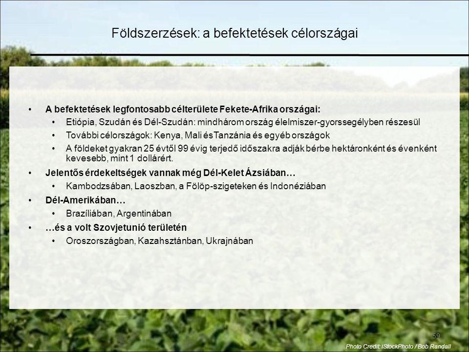Földszerzések: a befektetések célországai