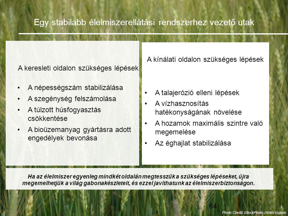 Egy stabilabb élelmiszerellátási rendszerhez vezető utak
