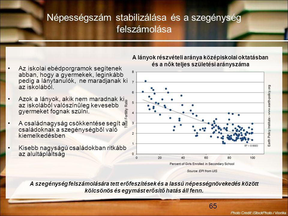 Népességszám stabilizálása és a szegénység felszámolása
