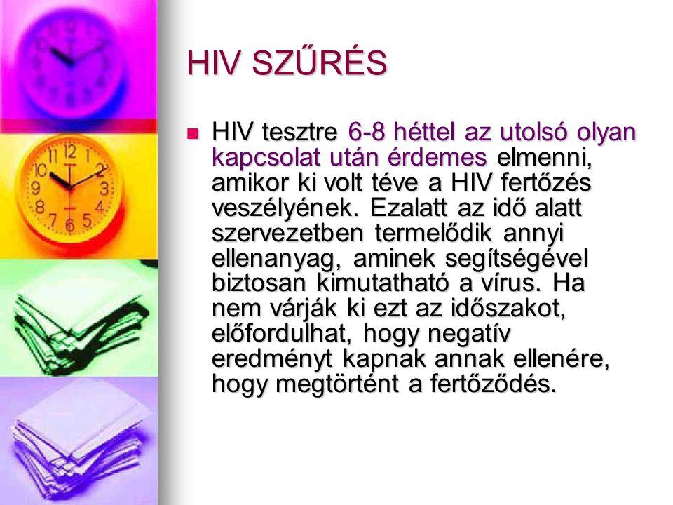 HIV SZŰRÉS