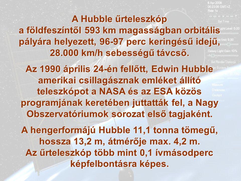 A hengerformájú Hubble 11,1 tonna tömegű,