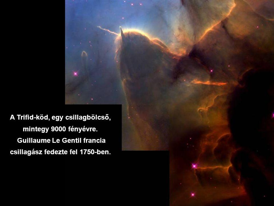 A Trifid-köd, egy csillagbölcső, mintegy 9000 fényévre.