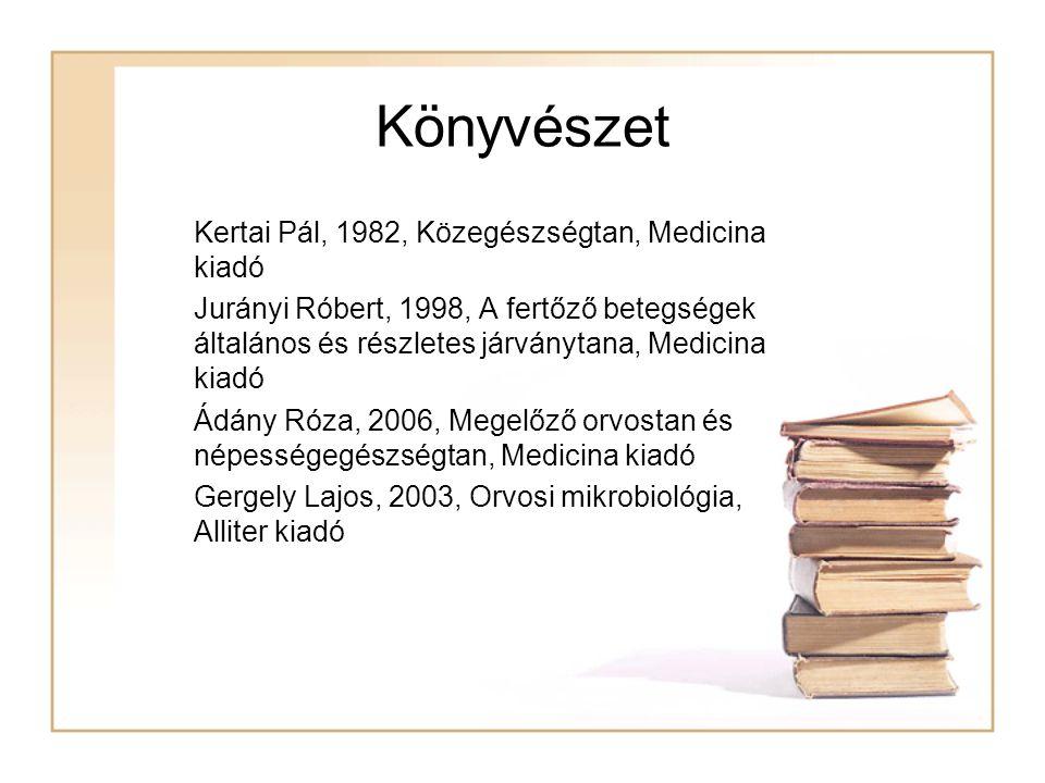 Könyvészet Kertai Pál, 1982, Közegészségtan, Medicina kiadó