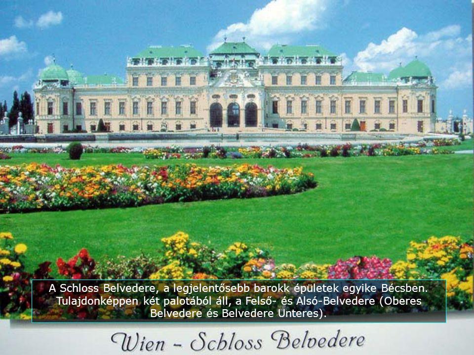 A Schloss Belvedere, a legjelentősebb barokk épületek egyike Bécsben