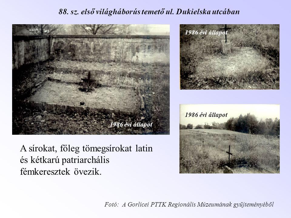 88. sz. első világháborús temető ul. Dukielska utcában
