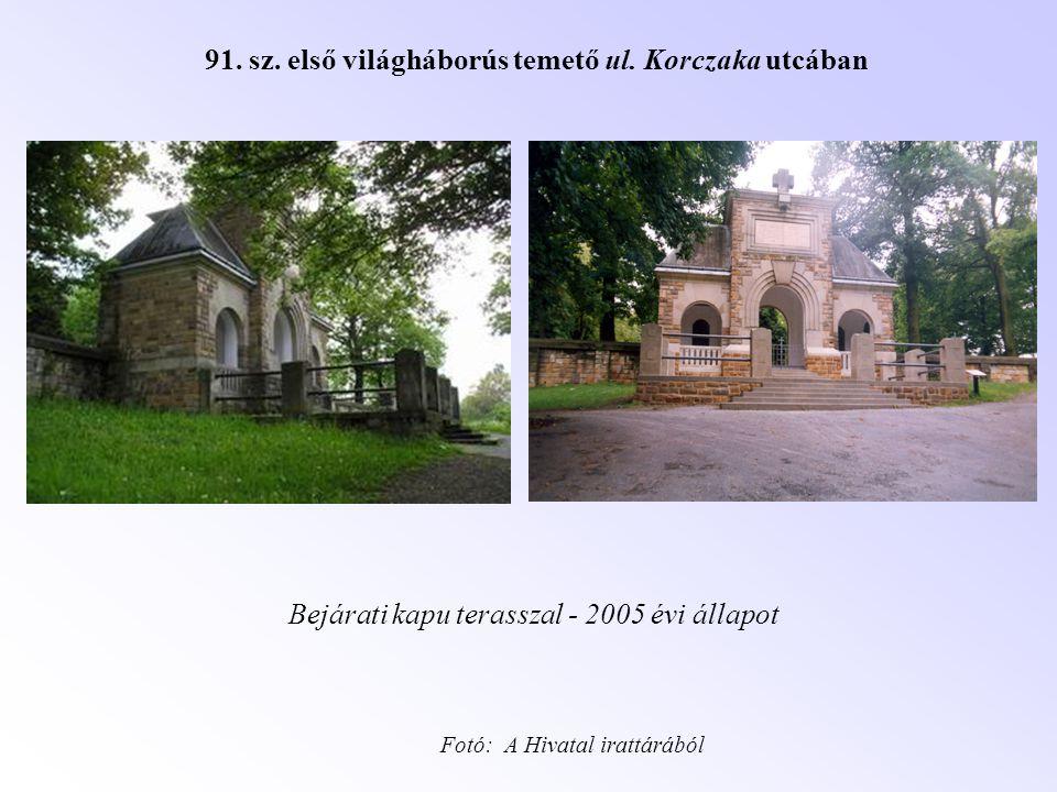 91. sz. első világháborús temető ul. Korczaka utcában
