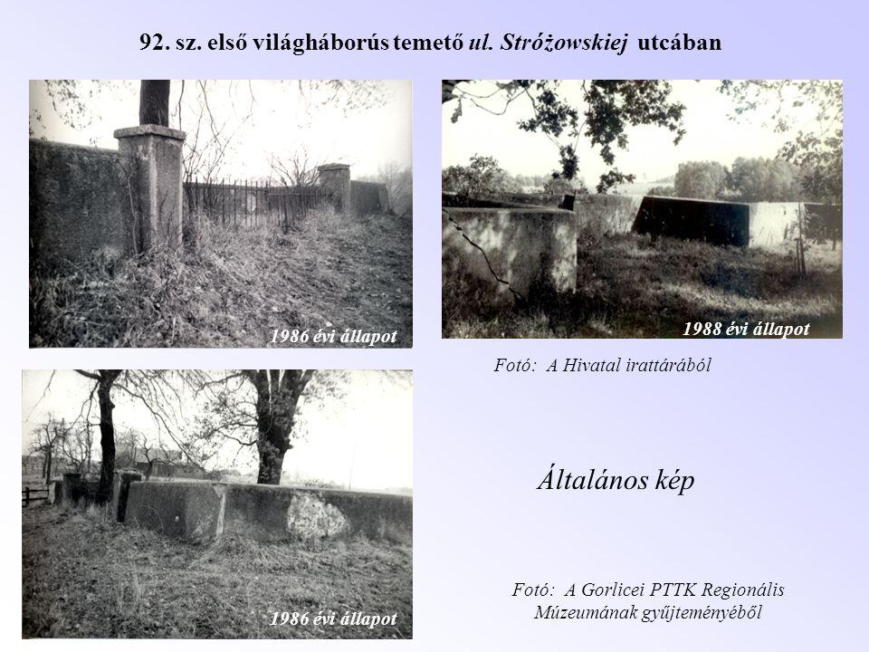 92. sz. első világháborús temető ul. Stróżowskiej utcában
