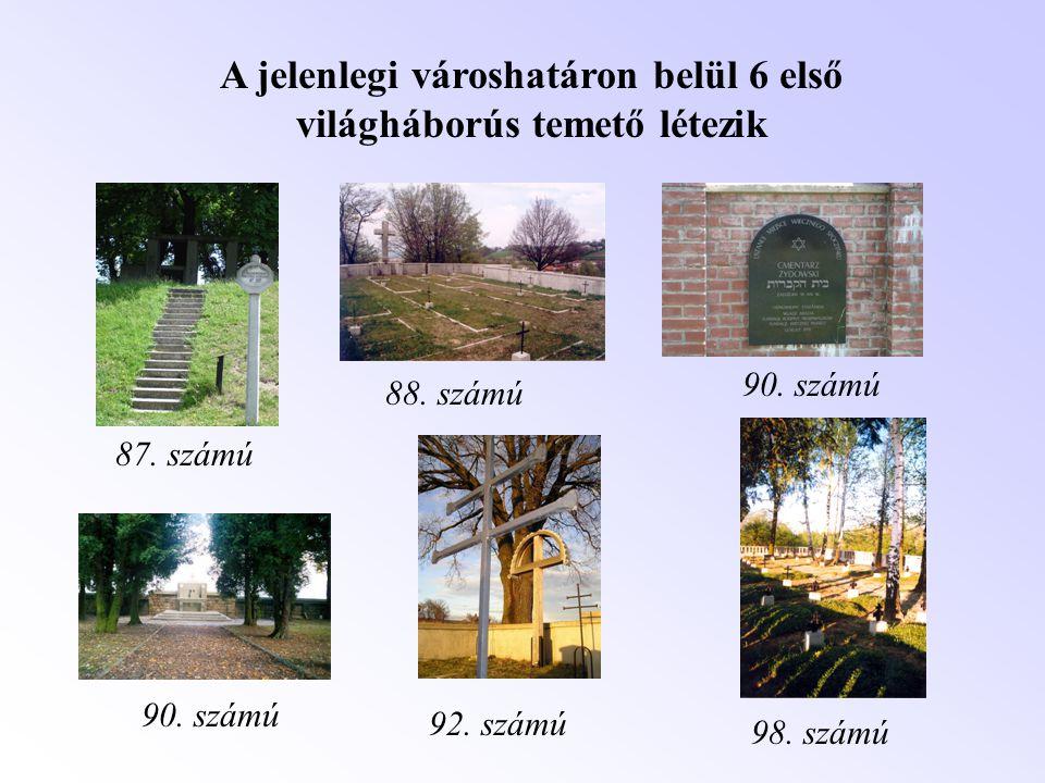 A jelenlegi városhatáron belül 6 első világháborús temető létezik