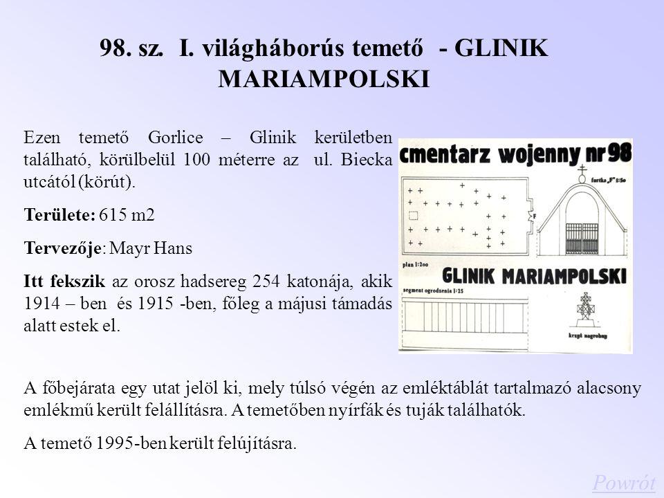 98. sz. I. világháborús temető - GLINIK MARIAMPOLSKI