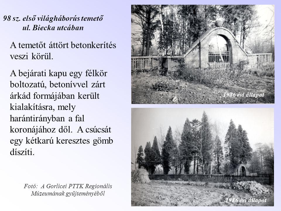 98 sz. első világháborús temető ul. Biecka utcában
