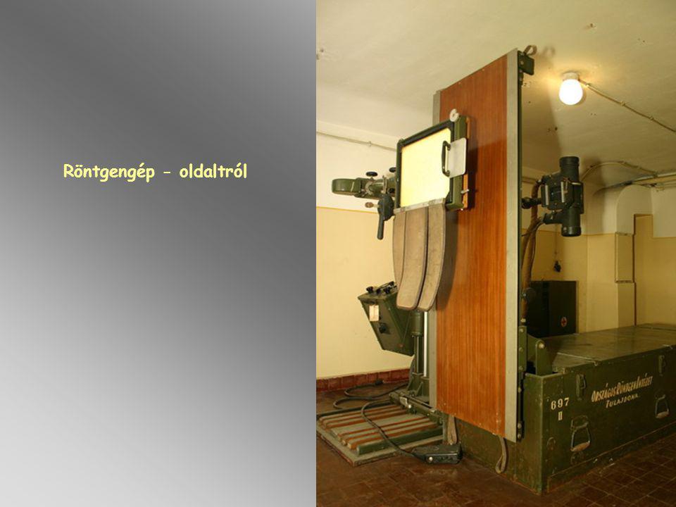 Röntgengép - oldaltról