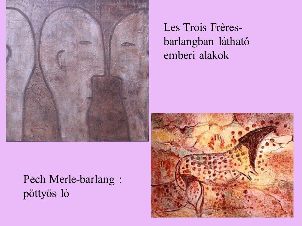 Les Trois Frères-barlangban látható emberi alakok