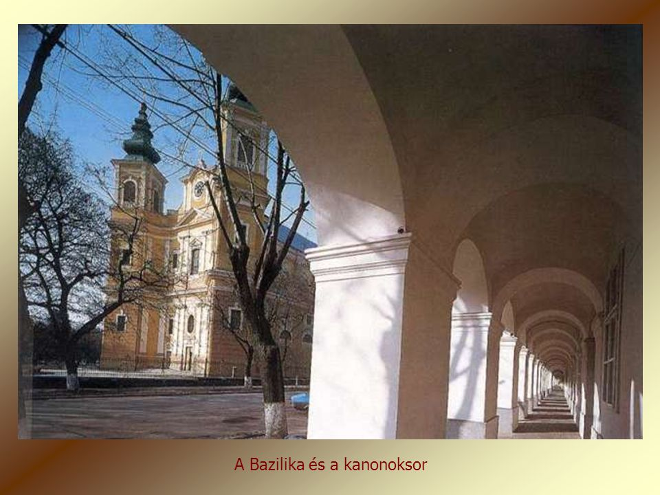 A Bazilika és a kanonoksor
