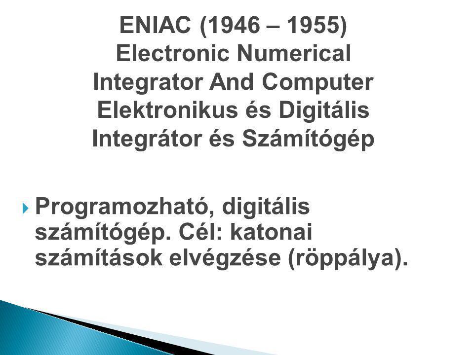 Integrator And Computer Elektronikus és Digitális