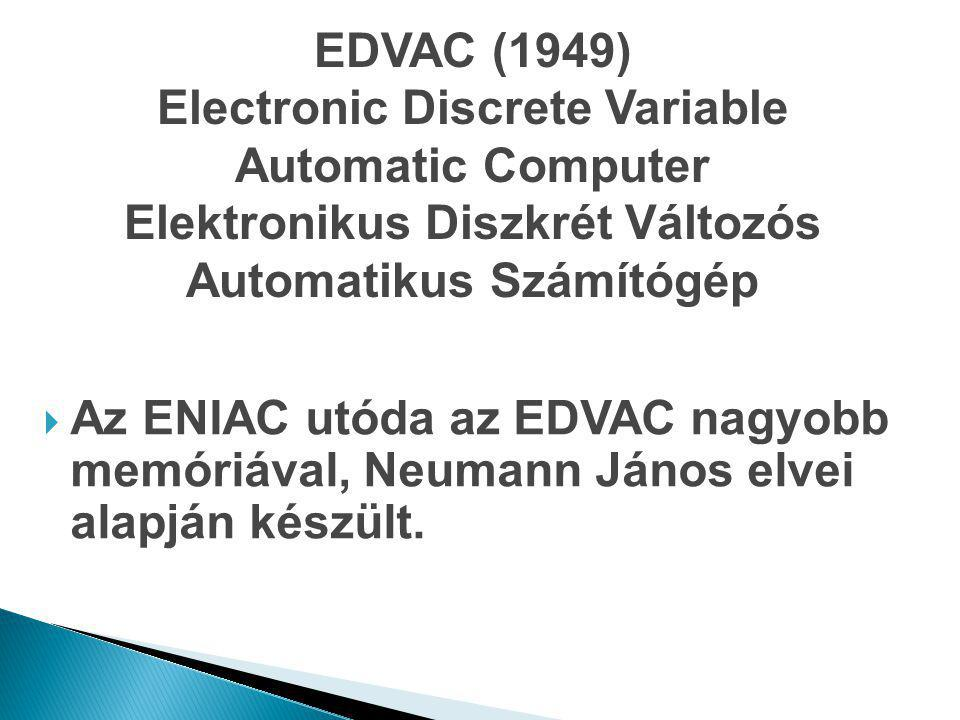 Electronic Discrete Variable Automatic Computer