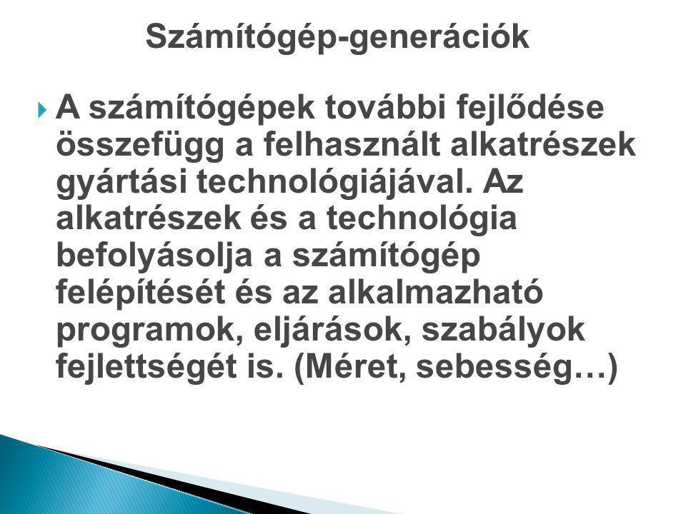 Számítógép-generációk