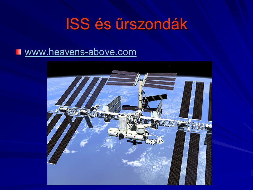 ISS és űrszondák www.heavens-above.com
