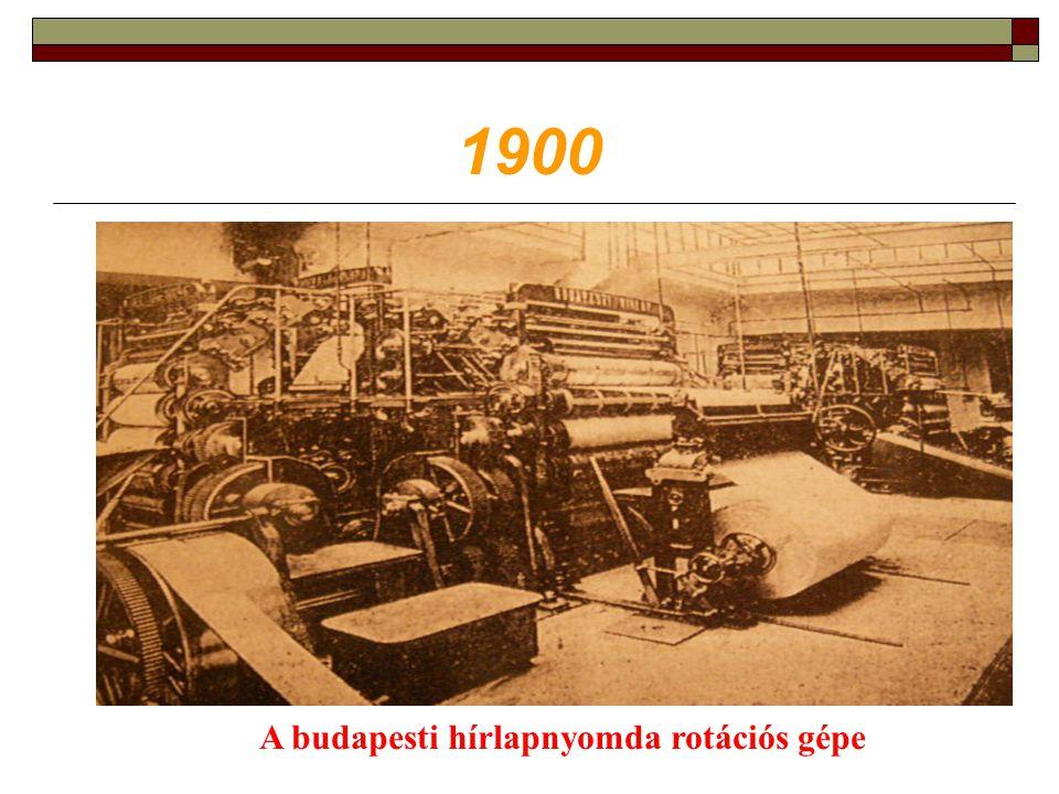 A budapesti hírlapnyomda rotációs gépe