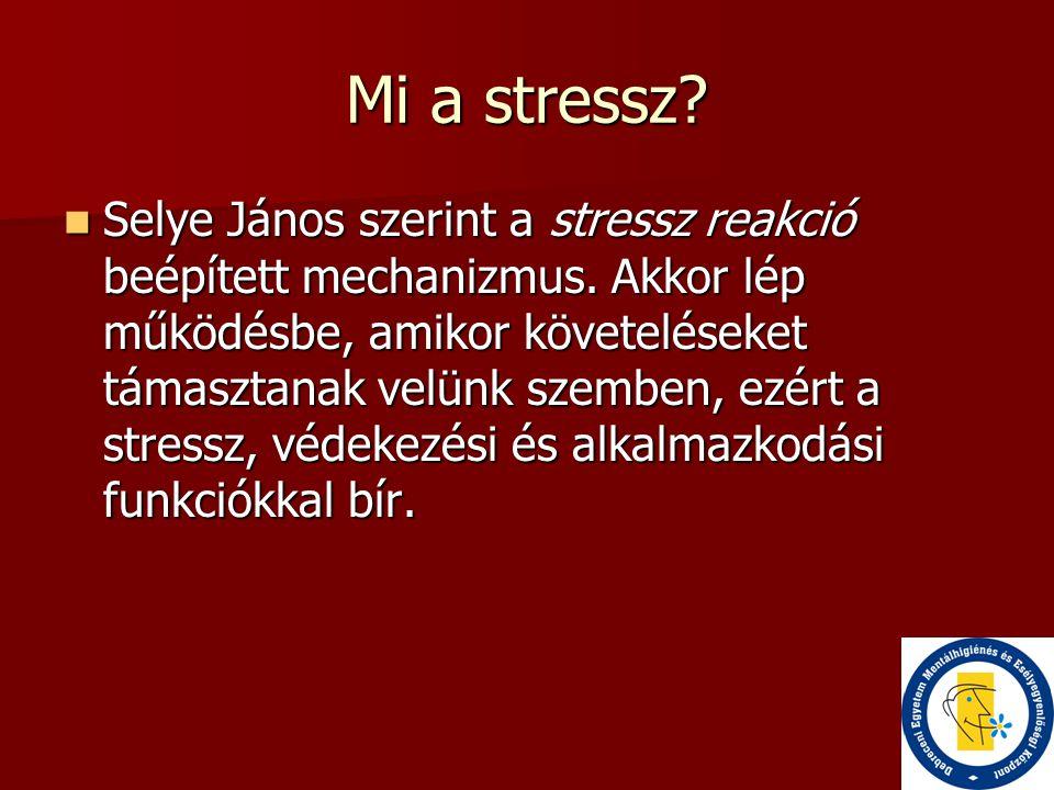 Mi a stressz