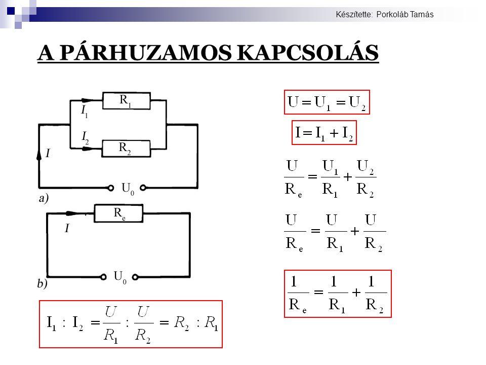 A PÁRHUZAMOS KAPCSOLÁS