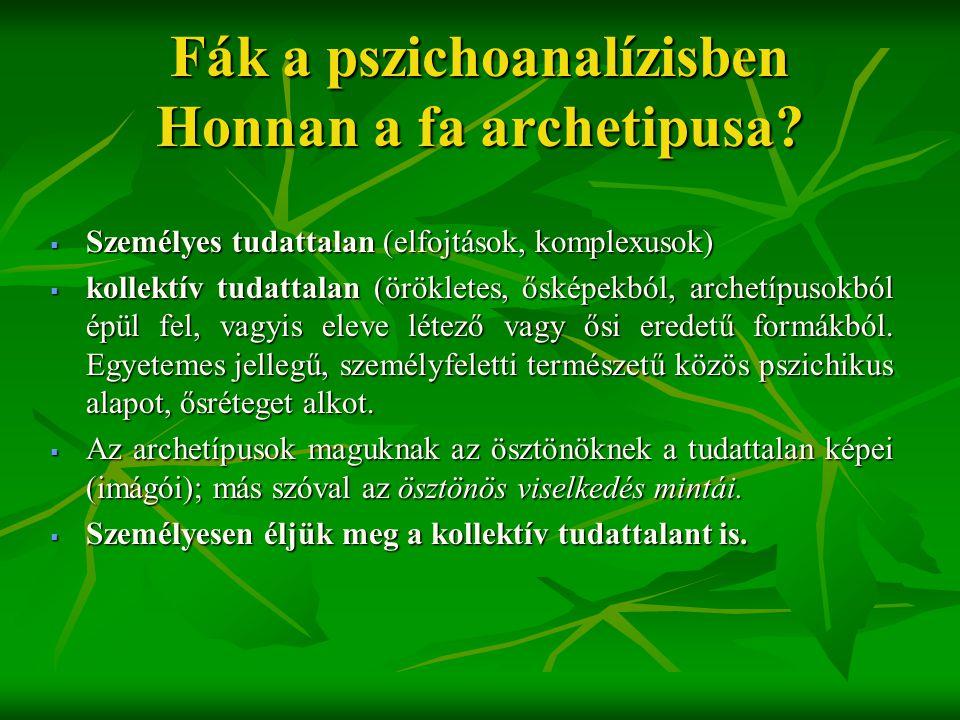 Fák a pszichoanalízisben Honnan a fa archetipusa