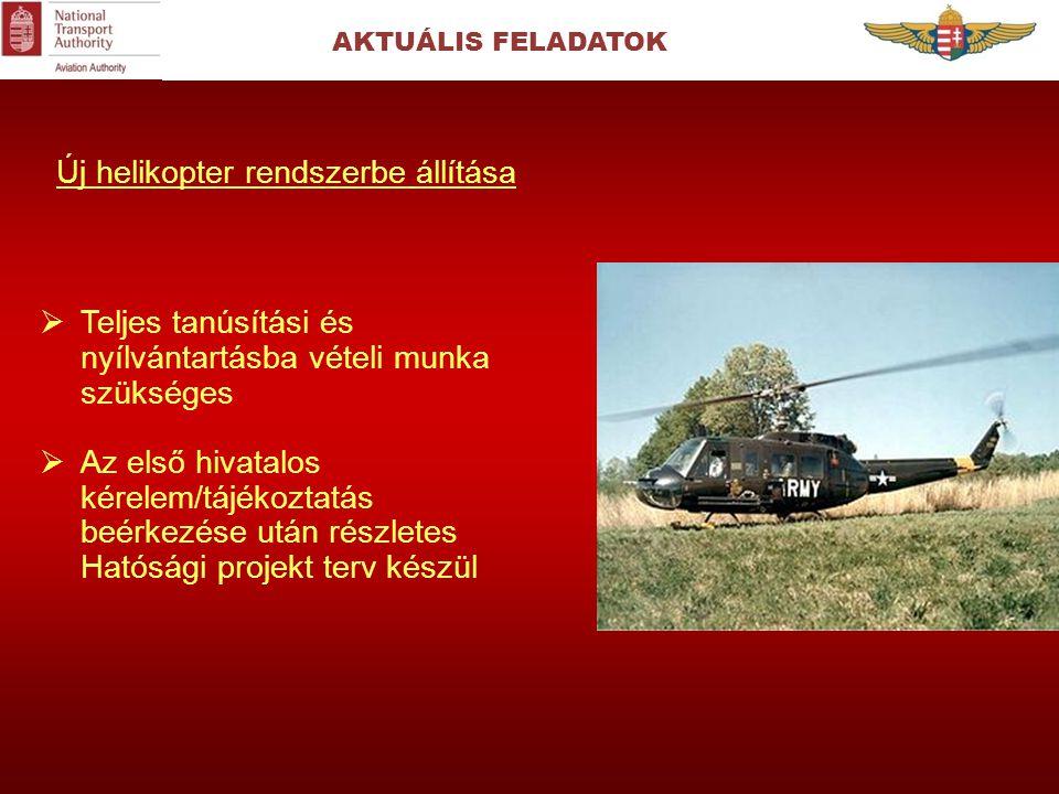 Új helikopter rendszerbe állítása