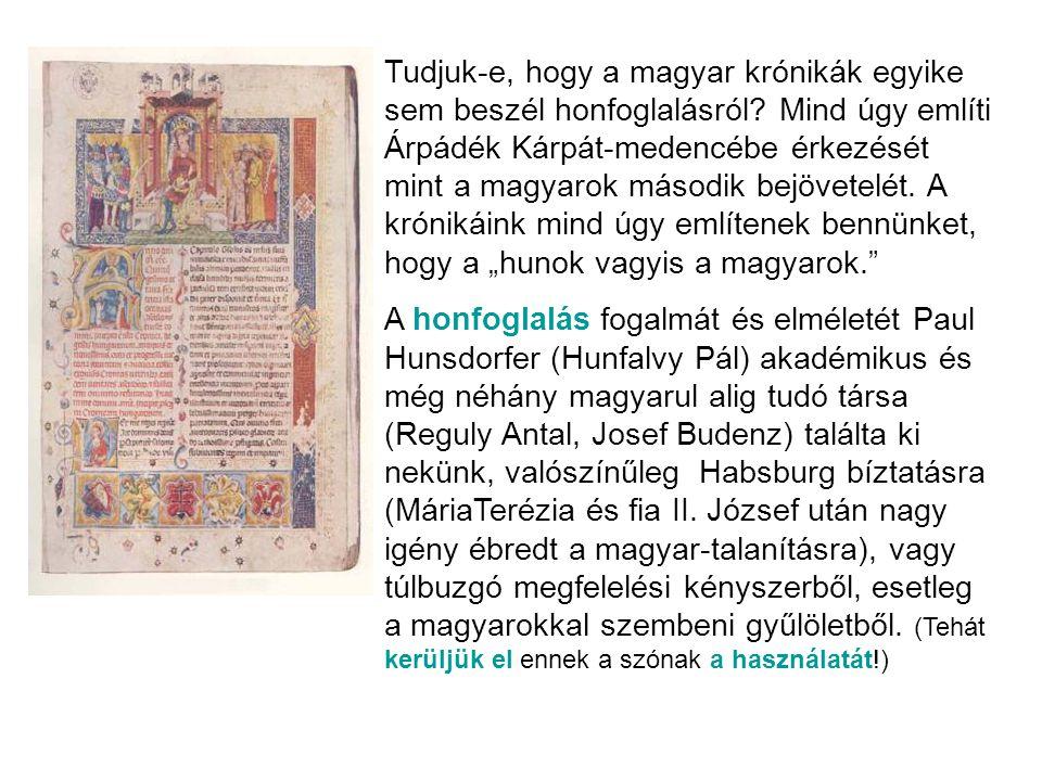 Tudjuk-e, hogy a magyar krónikák egyike sem beszél honfoglalásról