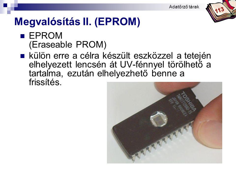 Megvalósítás II. (EPROM)