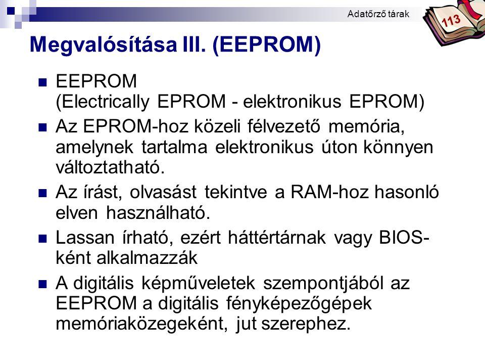Megvalósítása III. (EEPROM)
