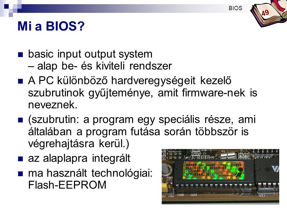 Mi a BIOS basic input output system – alap be- és kiviteli rendszer