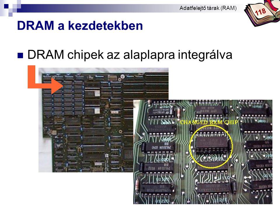 DRAM chipek az alaplapra integrálva