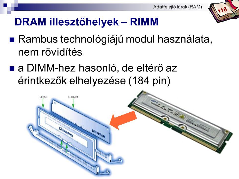 DRAM illesztőhelyek – RIMM