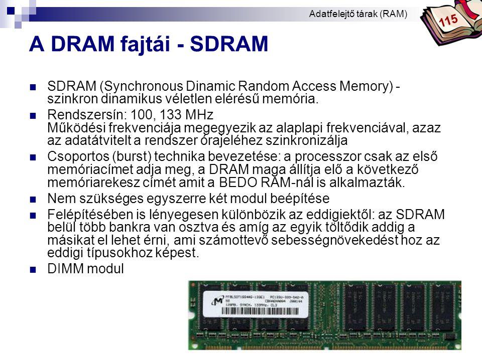 Adatfelejtő tárak (RAM)