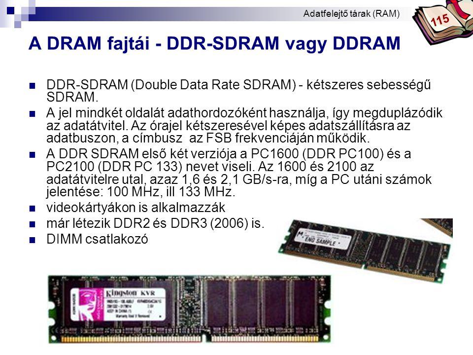 A DRAM fajtái - DDR-SDRAM vagy DDRAM