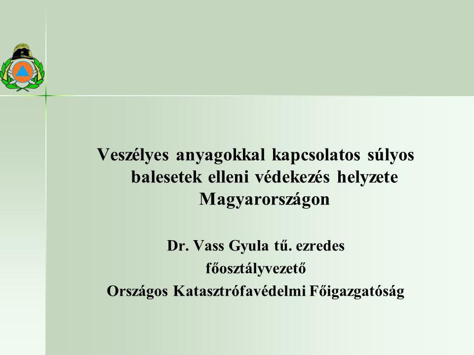 Dr. Vass Gyula tű. ezredes Országos Katasztrófavédelmi Főigazgatóság