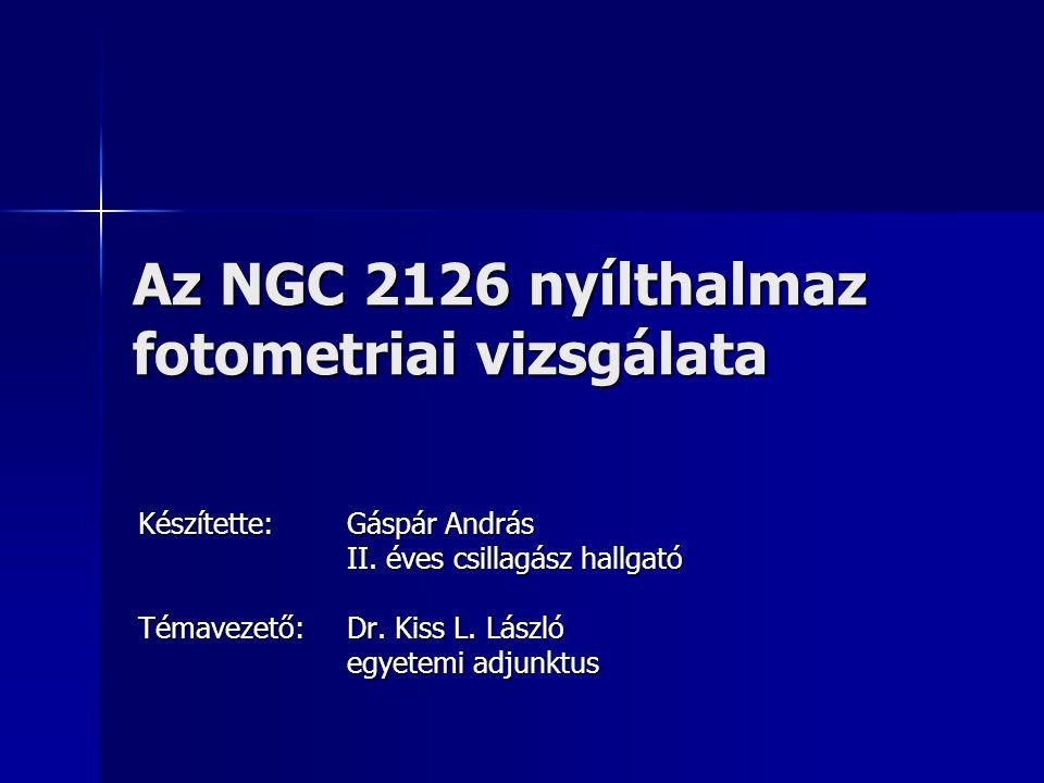 Az NGC 2126 nyílthalmaz fotometriai vizsgálata