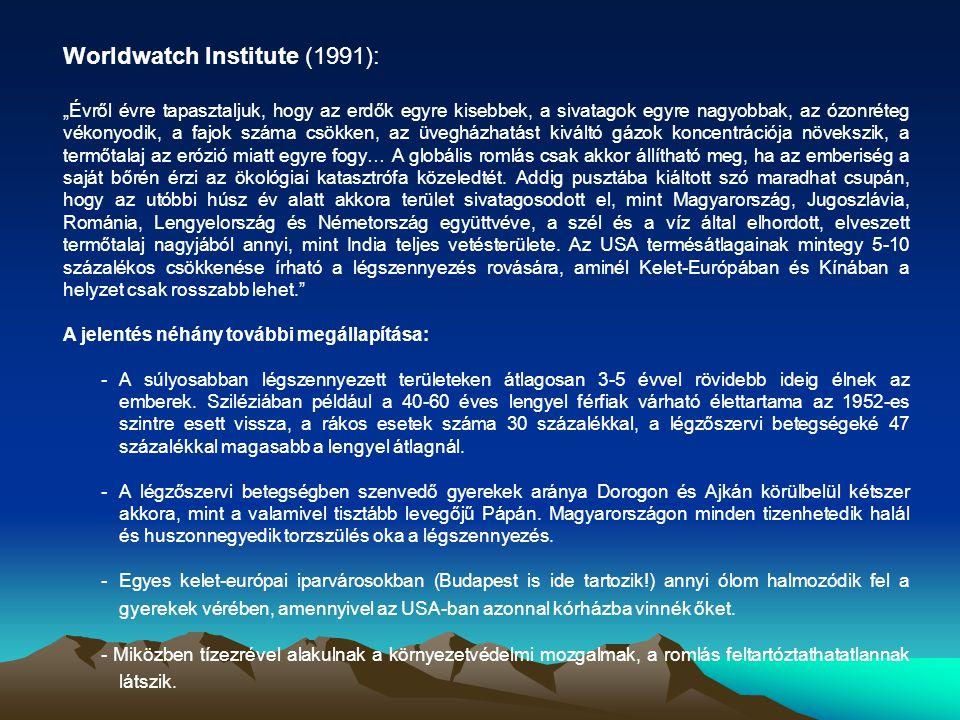 Worldwatch Institute (1991):