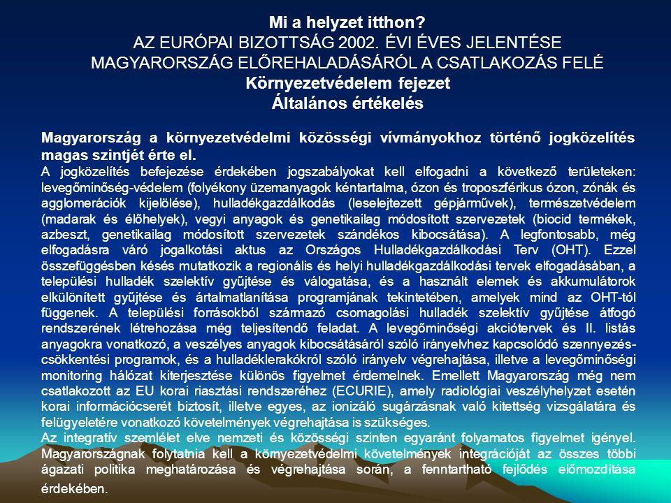 AZ EURÓPAI BIZOTTSÁG 2002. ÉVI ÉVES JELENTÉSE