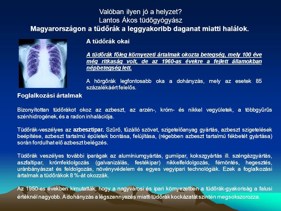 Valóban ilyen jó a helyzet Lantos Ákos tüdőgyógyász