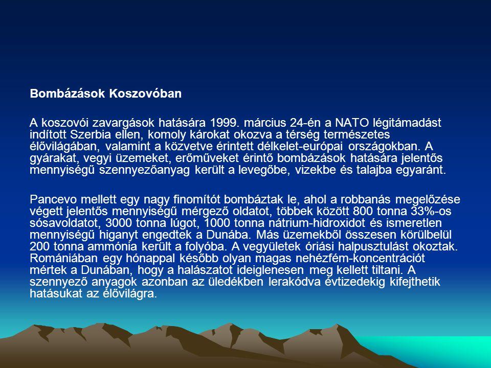 Bombázások Koszovóban