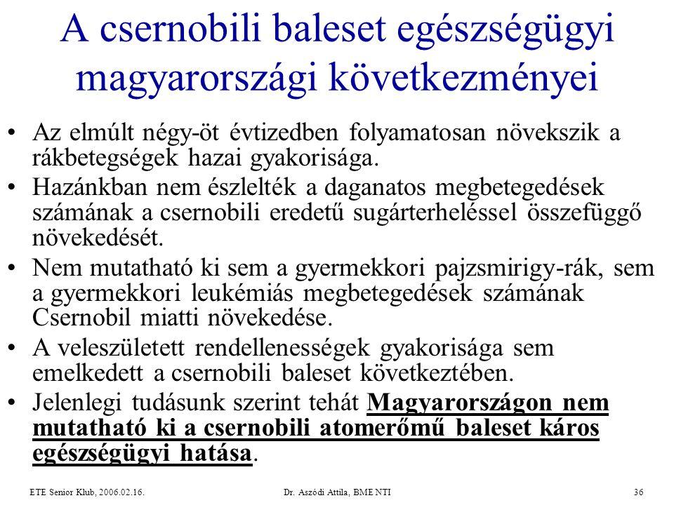 A csernobili baleset egészségügyi magyarországi következményei