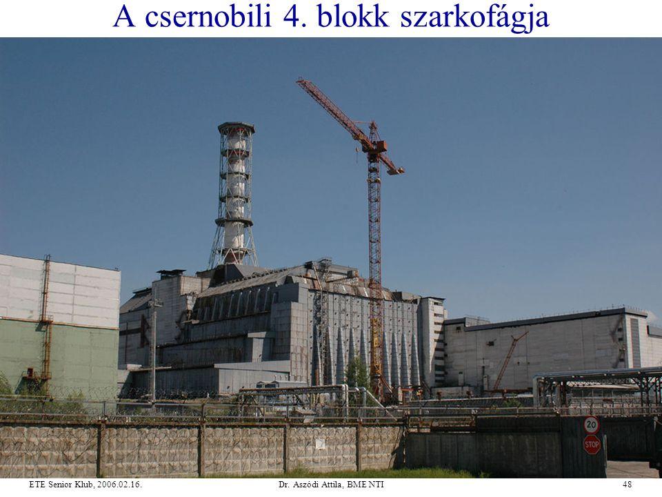 A csernobili 4. blokk szarkofágja
