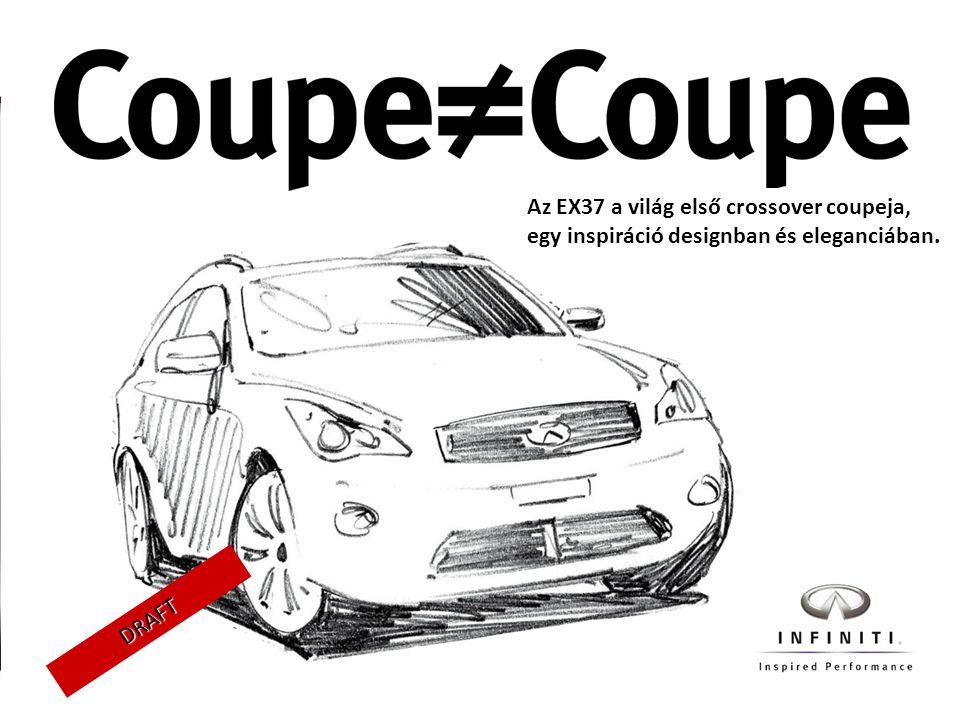 Az EX37 a világ első crossover coupeja, egy inspiráció designban és eleganciában.