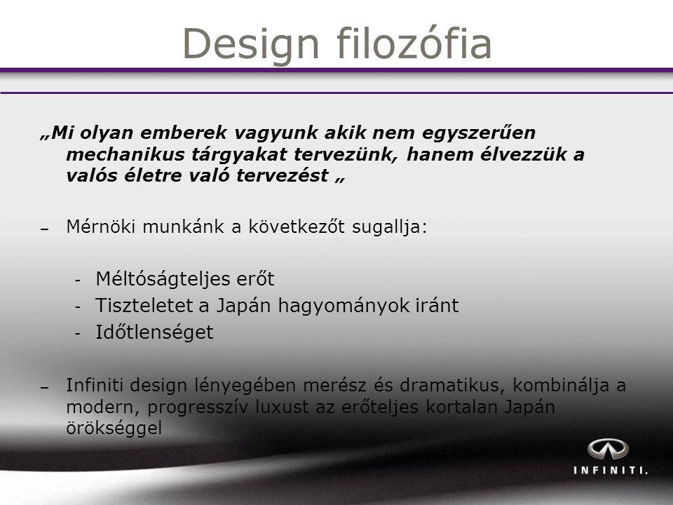 Design filozófia Méltóságteljes erőt