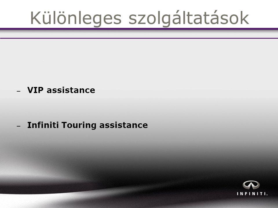 Különleges szolgáltatások